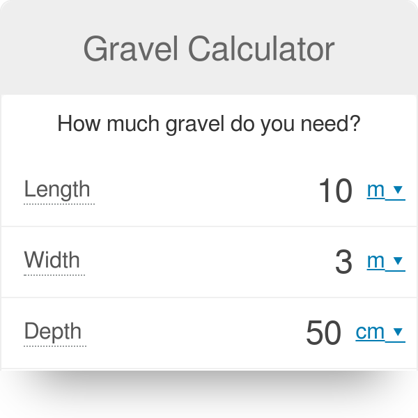 Gravel Calculator | How much gravel do you need? - Omni