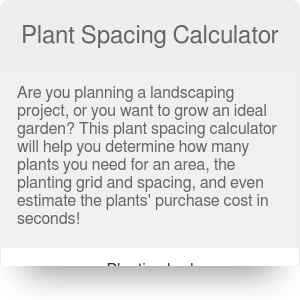 Plant Spacing Calculator