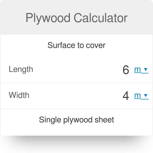 Plywood Calculator - Omni