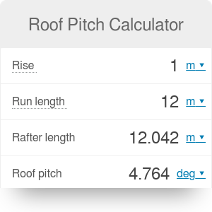 Roof pitch calculator omni roof pitch calculator sciox Images
