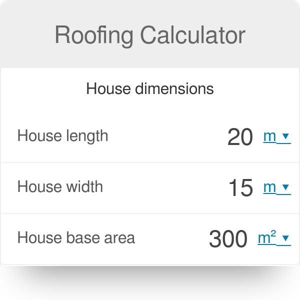 Roofing Calculator - Omni