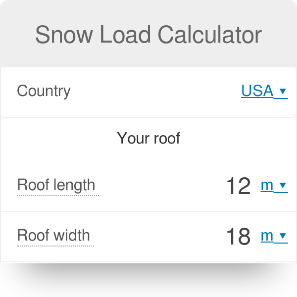 Snow Load Calculator | Weight of Snow on Your Roof - Omni