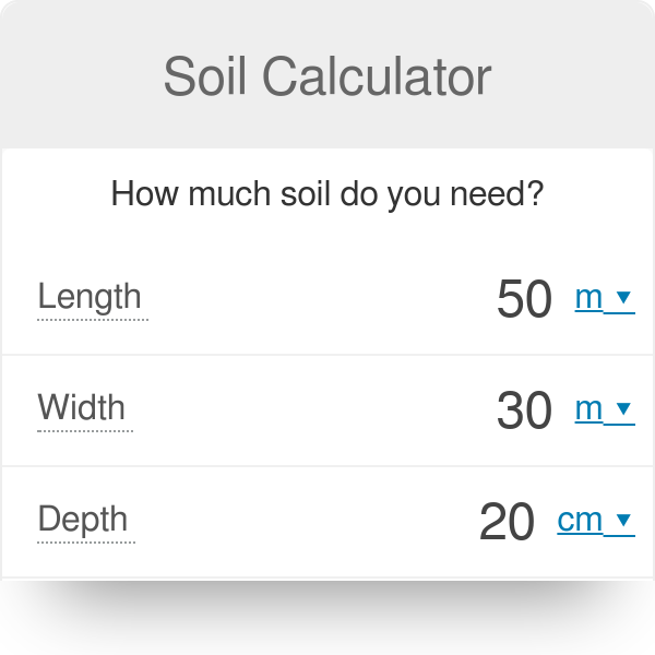 Soil Calculator How Much Do You