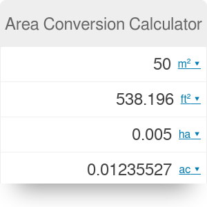 Area Conversion Calculator