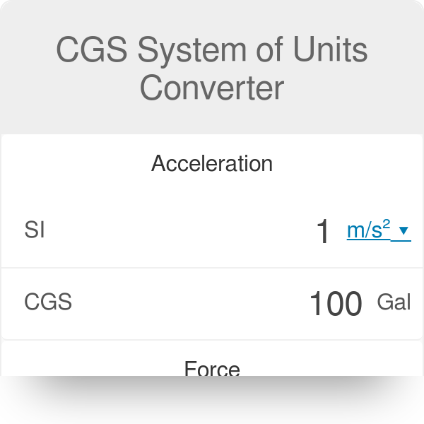 CGS System of Units Converter - Omni Calculator