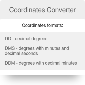 Coordinates Converter | Latitude and Longitude