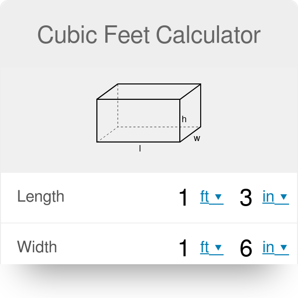 Cubic Feet Calculator From Inches And Other