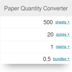 Paper Quantity Converter: How Many Sheets in a Ream?