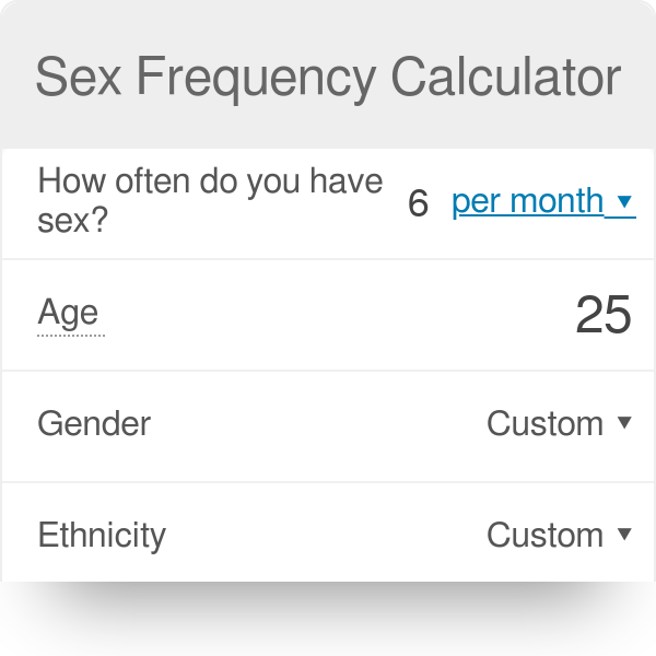 How many times is it normal to have sex