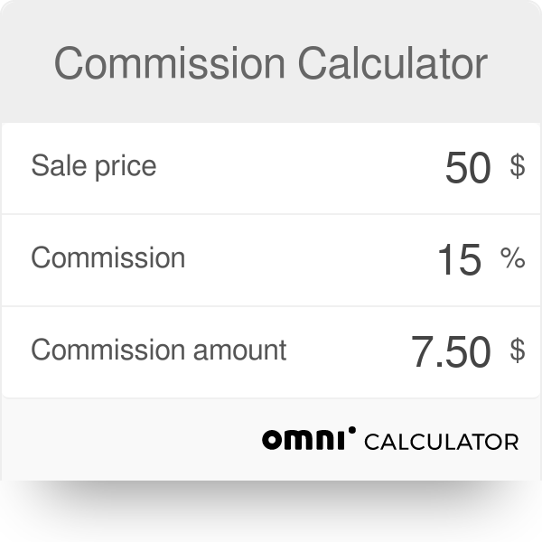 Commission Calculator Omni