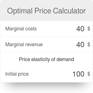 Optimal Price Calculator