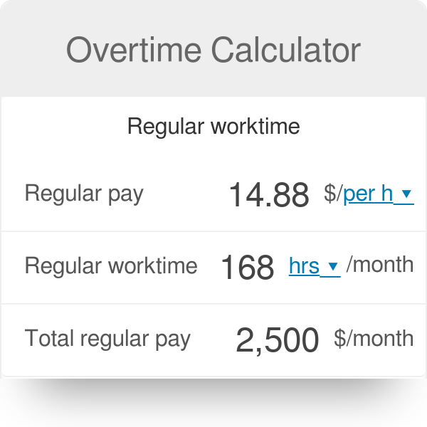 Overtime Calculator Time And A Half