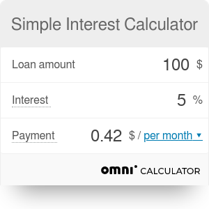 Simple Interest Calculator | Defintion | Formula