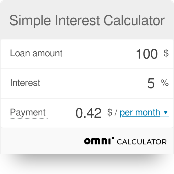 Interest Calculator | Interest Calculator Omni