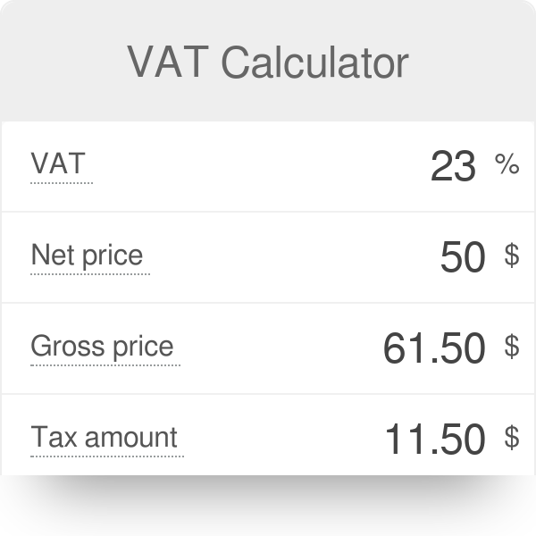 VAT Calculator - Omni