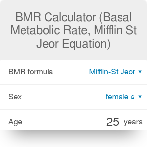 BMR Calculator - Basal Metabolic Rate Calculator