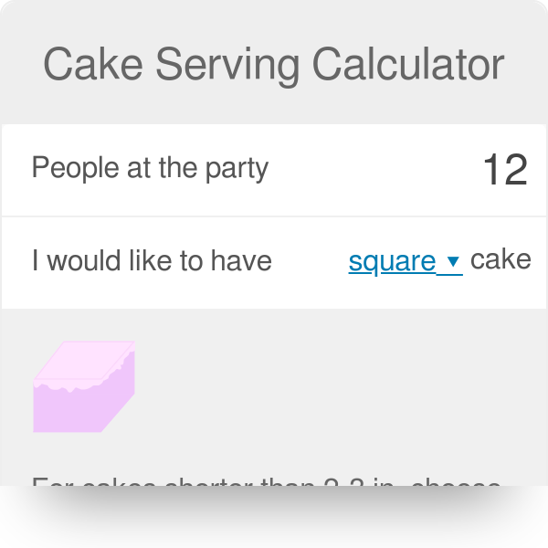 Incredible Cake Serving Calculator Find Out How Much To Order Or Bake Omni Personalised Birthday Cards Vishlily Jamesorg