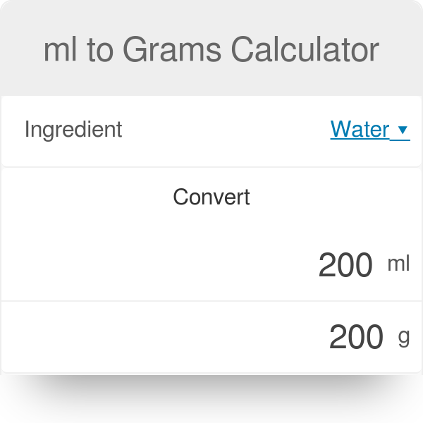 Ml To Grams Calculator Flour Sugar Butter Others Omni
