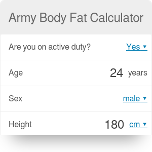 Army Body Fat Calculator