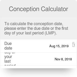 Reverse Due Date >> Conception Date Calculator When Did I Conceive Omni