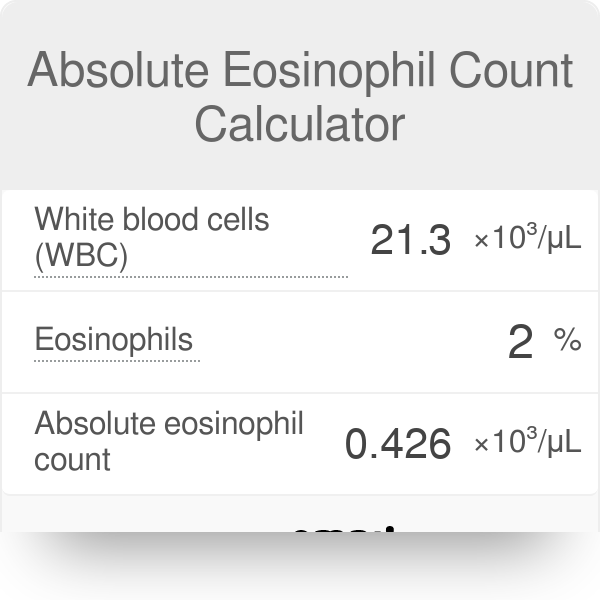 Absolute Eosinophil Count Calculator - Omni