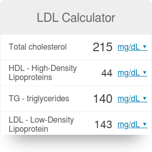 Ldl Cholesterol Calculator