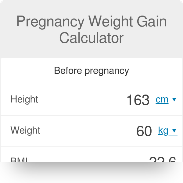 Pregnancy Weight Gain Calculator - Omni