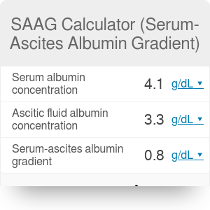 Serum-Ascites Albumin Gradient Calculator