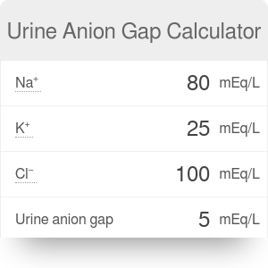 Urine Anion Gap - How to Find It?