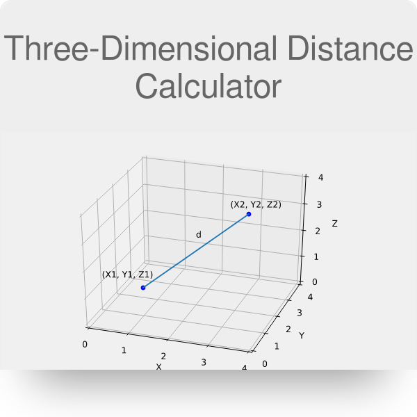 Three-Dimensional Distance Calculator - Omni