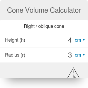Cone Volume Calculator