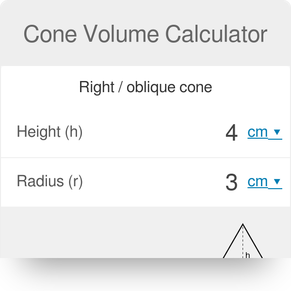Cone Volume Calculator - Omni