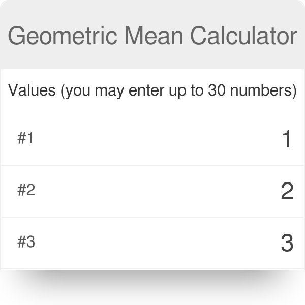 Geometric Mean  Calculator | Definition | Examples - Omni