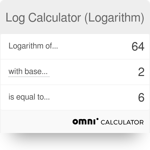 Log Calculator (Logarithm) - Omni