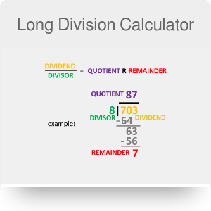 Long Division Calculator with Decimals and Remainders