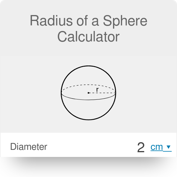 Radius of a Sphere  Calculator | Formula - Omni