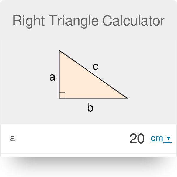 Right Triangle Calculator | Definition | Formula