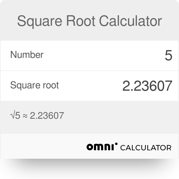 Square Root Calculator Omni
