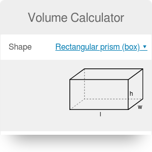 Volume Calculator. Definition | Formulas | Measurements