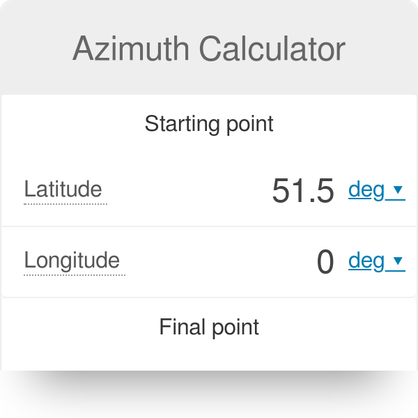 Azimuth Calculator - Omni