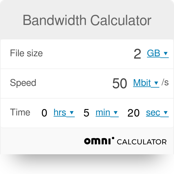 calculate download speed from time and file size