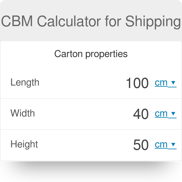 CBM Calculator for Shipping - Omni