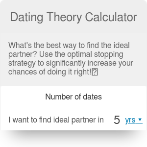 Dating Theory Calculator | Optimal Stopping Theory