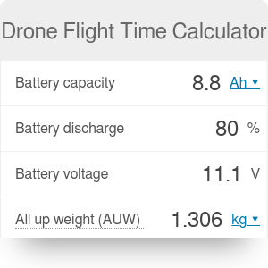 Drone Flight Time Calculator