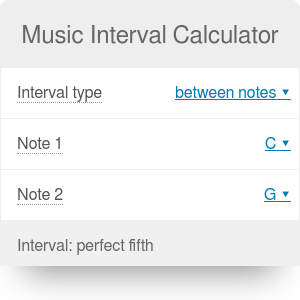 Music Interval Calculator