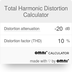 Total Harmonic Distortion Calculator