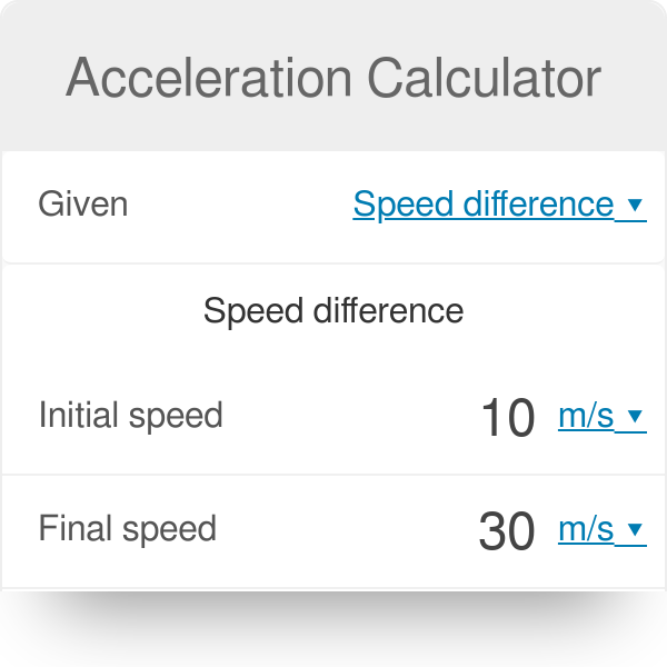 Acceleration Calculator  How to find acceleration  - Omni