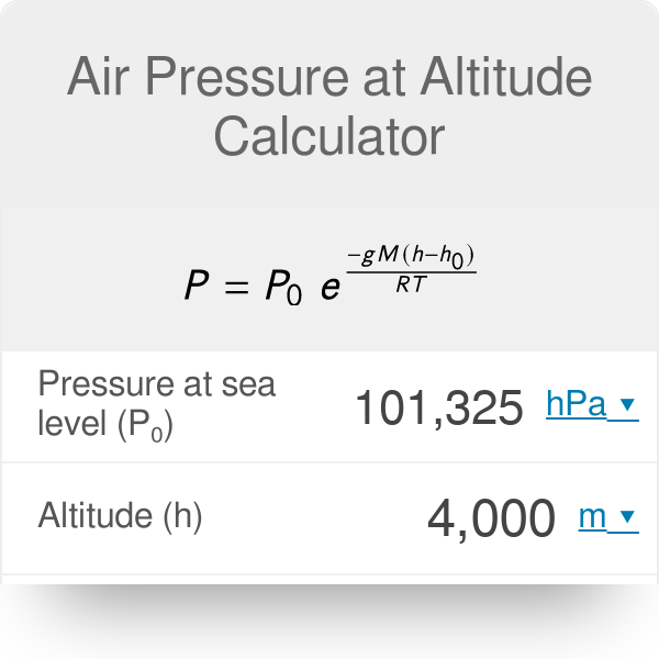Air Pressure at Altitude Calculator - Omni