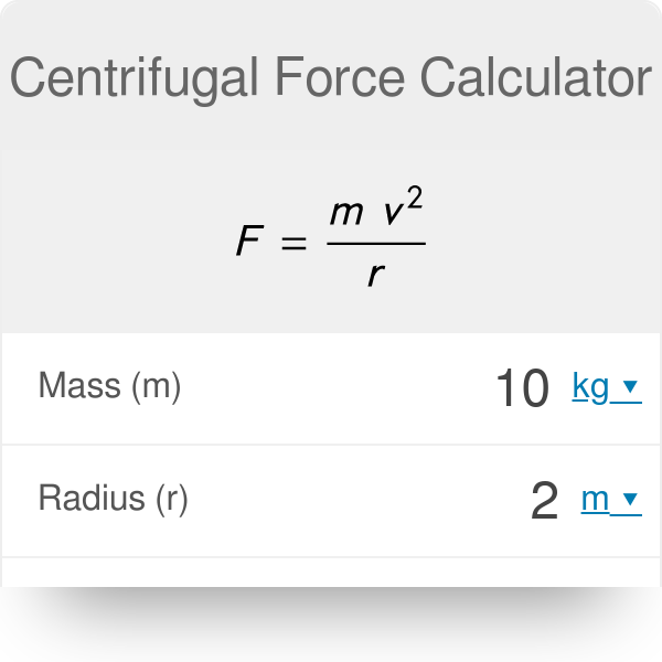 Centrifugal Force Calculator - Omni