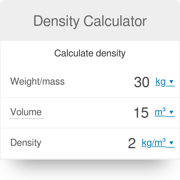 Density Calculator - Omni